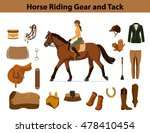 Equestrian Sport Equipment Set...