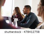 students at desks attending... | Shutterstock . vector #478412758