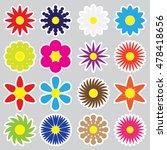 colorful simple retro small...   Shutterstock .eps vector #478418656