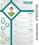 modern cv resume curriculum... | Shutterstock .eps vector #478420708