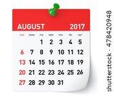 august 2017   calendar....   Shutterstock . vector #478420948