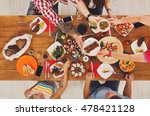 people eat healthy meals at... | Shutterstock . vector #478421128