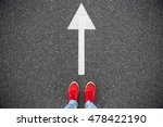 sneakers on the asphalt road... | Shutterstock . vector #478422190