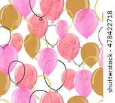 watercolor pink and glittering... | Shutterstock .eps vector #478422718