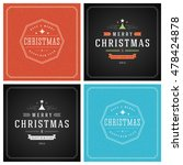 christmas typography greeting... | Shutterstock .eps vector #478424878