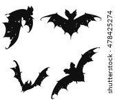 set bats. collection of bats.... | Shutterstock .eps vector #478425274