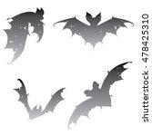 set bats. collection of bats.... | Shutterstock .eps vector #478425310