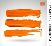 brushstroke and texture. vector ... | Shutterstock .eps vector #478429624