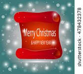 we wish you a very merry... | Shutterstock .eps vector #478432378