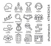 business management icons in... | Shutterstock . vector #478432414