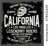 california motorcycle  vintage... | Shutterstock .eps vector #478432639