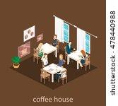 isometric interior of coffee... | Shutterstock .eps vector #478440988