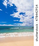 heavenly blue vacation... | Shutterstock . vector #478442914