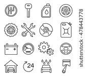 car parts  services  auto... | Shutterstock .eps vector #478443778