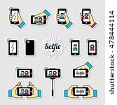 selfie graphic flat icon set.... | Shutterstock .eps vector #478444114