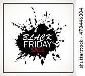 black friday sale poster with... | Shutterstock .eps vector #478446304