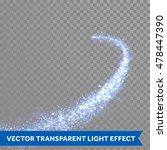 blue magic light trail of... | Shutterstock .eps vector #478447390