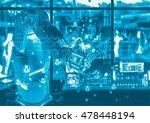 industry 4.0 concept image.... | Shutterstock . vector #478448194