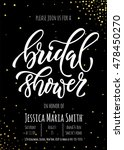 bridal shower invitation card... | Shutterstock .eps vector #478450270