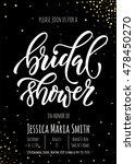 bridal shower invitation card... | Shutterstock .eps vector #478450270