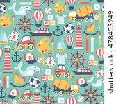 seamless pattern with child... | Shutterstock .eps vector #478453249