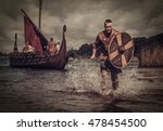 Serious Viking Warrior In The...