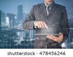 double exposure of businessman... | Shutterstock . vector #478456246