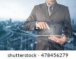 double exposure of businessman... | Shutterstock . vector #478456279