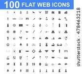 100 icon set. vector concept... | Shutterstock .eps vector #478463218