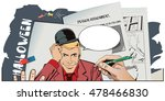 stock illustration. people in... | Shutterstock .eps vector #478466830