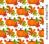 halloween seamless pattern... | Shutterstock .eps vector #478467748