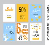 set of sale badge. labels and... | Shutterstock .eps vector #478468258