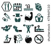 gym icon set | Shutterstock .eps vector #478469110