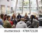 students sitting in the foyer...   Shutterstock . vector #478472128