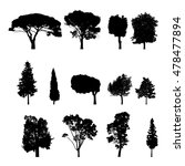 vector trees in silhouettes.... | Shutterstock .eps vector #478477894