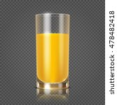 orange juice in glass vector... | Shutterstock .eps vector #478482418
