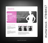 web site design template ...   Shutterstock .eps vector #47848417