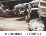 tools laid out on the table. | Shutterstock . vector #478485433