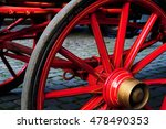 Wheel Of A Cart Trolley Of...