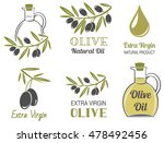 vector set of olive oil  labels | Shutterstock .eps vector #478492456