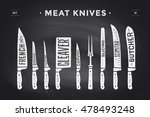 Meat Cutting Knives Set. Poste...