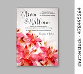 wedding invitation or card with ... | Shutterstock .eps vector #478495264