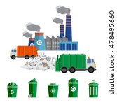 waste segregation and garbage... | Shutterstock .eps vector #478495660