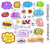 vector set of hand drawn comic... | Shutterstock .eps vector #478495810