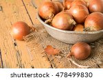 onions in an old aluminum bowl ...