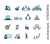 business and teamwork icons... | Shutterstock .eps vector #478503946