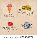 set of watercolor labels... | Shutterstock .eps vector #478504174