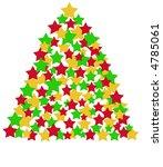 christmas tree illustration - stock photo