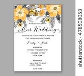 poinsettia wedding invitation... | Shutterstock .eps vector #478508053