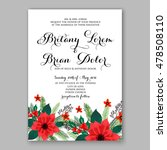 poinsettia wedding invitation... | Shutterstock .eps vector #478508110
